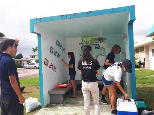 Guam High School did a school wide project for our 20th year anniversary for DoDEA. All students participated in 1 of the 20 acts of kindness in our community such as bus stop painting, park clean-ups, reading to our public school students, GAIN clean-up.