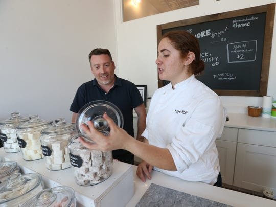 From left, owner Brendan McAlpine and pastry chef Danielle