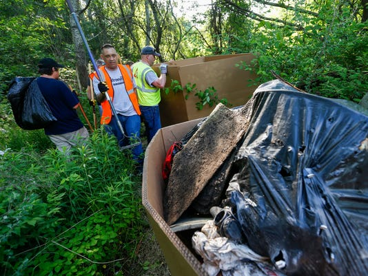 former homeless camp cleanup