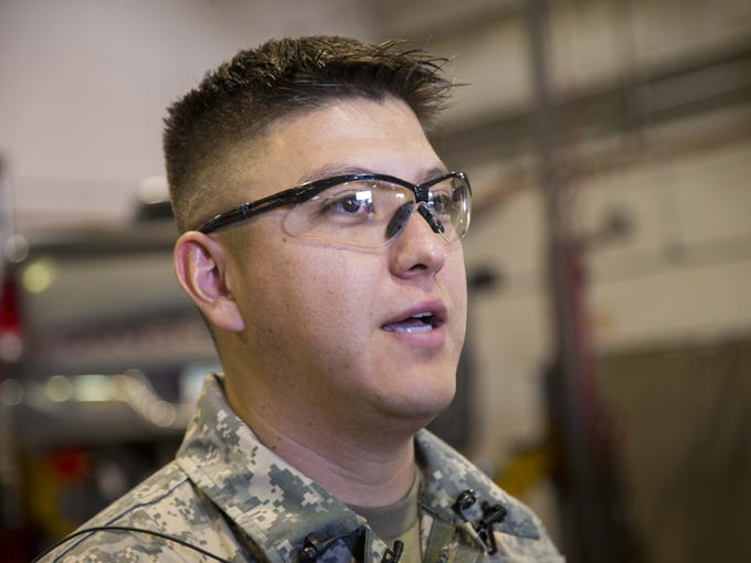 Sgt. Leonardo Gastelum of Arizona National Guard help