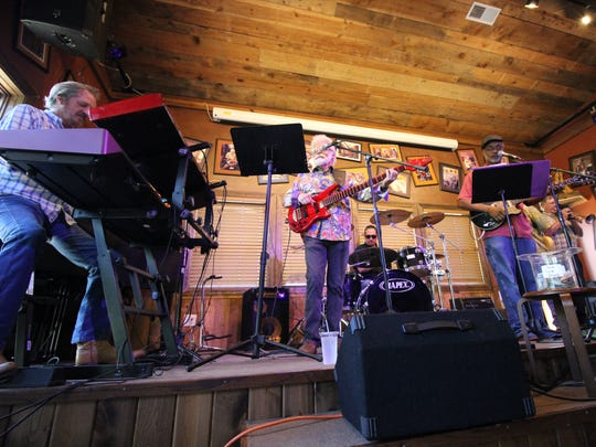 The Jamie Estes Band rock the house with their soulful jazz, blues and gospel fusion on Fathers' Day bringing down the house.