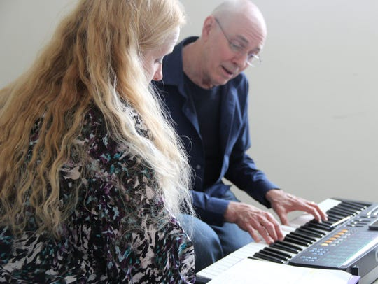 Dawn Marie Talos works with John Tanner on her song