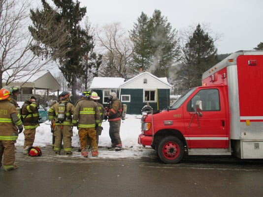 Spen Fire Dept at house fire.JPG
