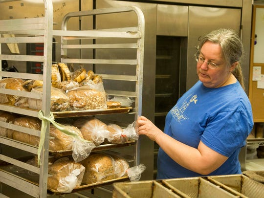 Leslie Walston, owns Great Harvest Bread Co., which offers customers a slice of fresh bread for free.