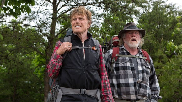 "Robert Redford and Nick Nolte star in the new movie ""A Walk in the Woods,"" which will have a special screening in Ashseville Sept. 2."