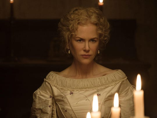 This image released by Focus Features shows Nicole Kidman in a scene from 'The Beguiled.' The film, a tale of sexual longing and mind games set during the Civil War, opens June 23.