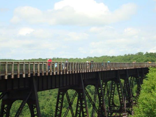 This old railroad viaduct was considered to be the