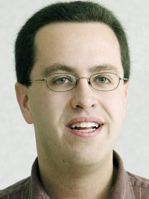 Jared Fogle, spokesman for Subway, is shown speaking to a marketing class at the J. Everett Light Career Center and other North Central students and teachers on March 11, 2005. Fogle was a graduate of North Central and was inducted into the school's Hall of Fame in 2007.