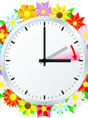 Daylight Savings Time starts at 2 a.m. March 12.