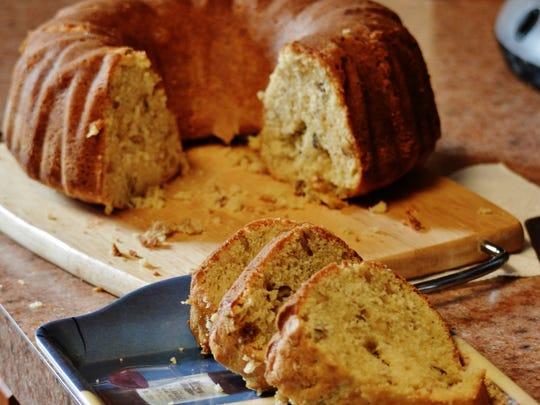 Maple Walnut Pound Cake