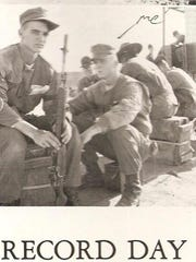 Former Marine Gunnery Sgt. John Foster, a Vietnam veteran, during boot camp. Foster now lives in Palm Springs.