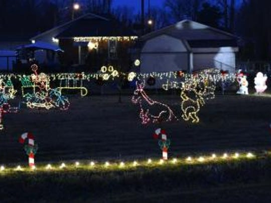The Honorable Mention Award went to Jeff Reible on Crutcher Blvd./West Waverly St.  Part of the large Christmas display is shown here.
