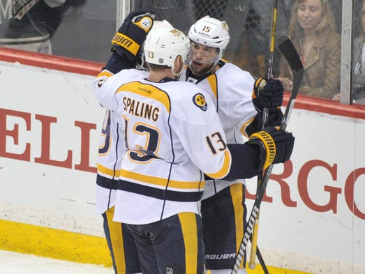 April 13, first star: Nashville Predator forward Craig Smith lead the Predators with two goals and two assists in their 7-3 win over the Minnesota Wild.