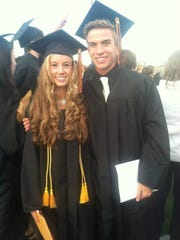 Kelsey Maloney and Aaron Rhodes in 2013 during Ashland High School graduation