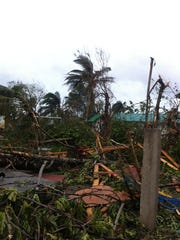 This is an orphanage built by Iowa-based GoServ Global in Haiti, destroyed by Hurricane Matthew.