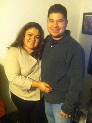 Max Villatoro was arrested at his Iowa City home by U.S. Immigration and Customs Enforcement. He is pictured here with his wife, Gloria.