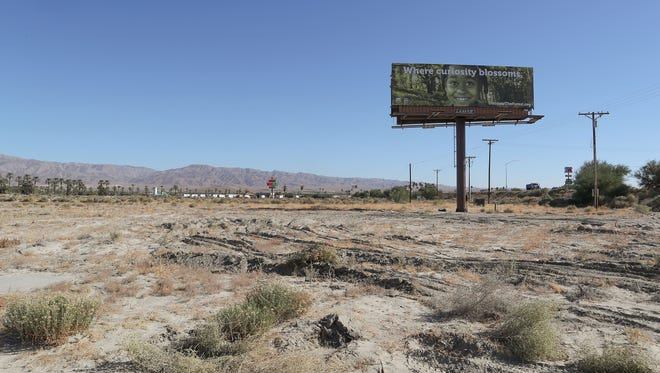 A large plot of land sits undeveloped situated in between the Fantasy Springs and the Spotlight 29 Casinos in Coachella.