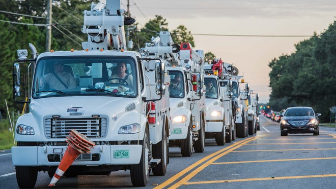 Gulf Power announced Tuesday that 150 workers would be traveling to assist with storm relief efforts, and the total number of customers impacted from Irma totaled 13,000 — mostly in Bay County.