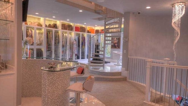 A look at the Champagne bar in  Theresa  Roemer's closet.