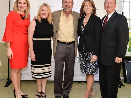 GL Homes Director of Community Relations Sarah Alsofrom, left, Maryann Haggerty, GL Homes Vice President Glenn Ryals with presenting sponsors Aileen and Ken Pruitt.