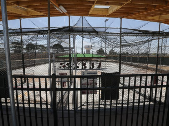 The batting cages at the Sportspark are complete.