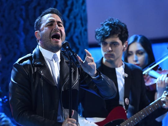"Jesús ""Chuy"" Navarro and Reik perform during the Latin"