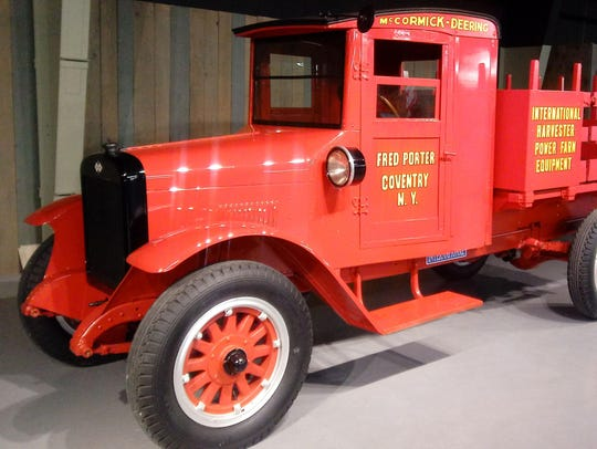A 1926 International Speed Truck Model S is on display