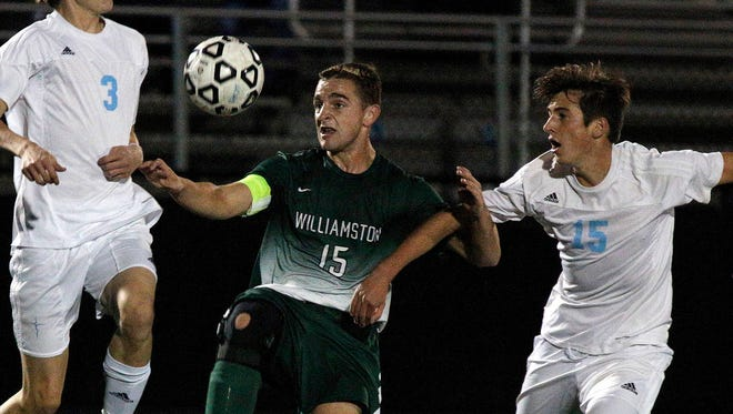 Jack Bellinger, left, and Williamston are the No. 2 seed for the CAAC Gold Cup.