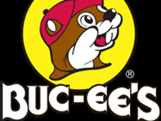 The Buc-ee's logo features Buc-ee Beaver.