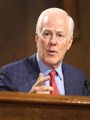 WASHINGTON, DC - JANUARY 12: Sen. John Cornyn (R-TX) asks a question during the confirmation hearing for U.S. President-elect Donald Trump's nominee for the director of the CIA, Rep.ÊMike Pompeo (R-KS) before the Senate (Select) Intelligence Committee on January 12, 2017 in Washington, DC. Mr. Pompeo is a former Army officer who graduated first in his class from West Point.  (Photo by Joe Raedle/Getty Images)