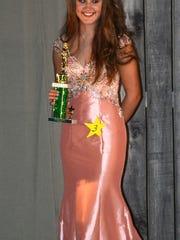 Rebekkah Eaves was selected to wear the Junior Miss
