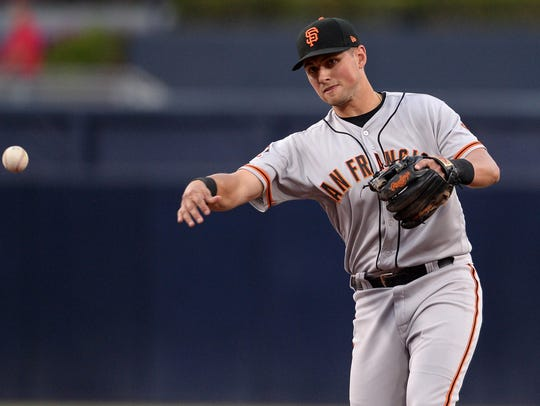 Joe Panik, second baseman, San Francisco Giants