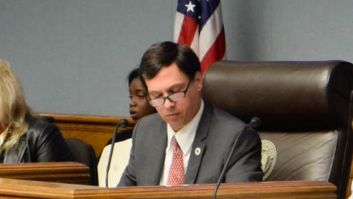 Chairman of the House Ways and Means Committee Rep. Neil Abramson D-New Orleans, reads over proposed bills to affect the Louisiana Earned Income Tax Credit.