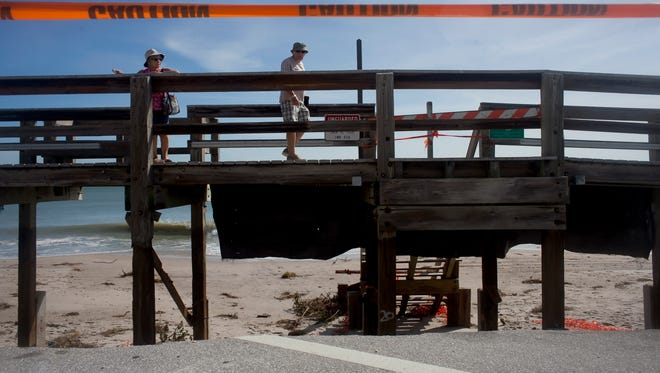 Damage caused to the boardwalk by Hurricane Matthew near Jaycee Beach Park in October was estimated to be nearly $13 million.