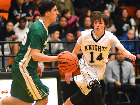 Onate's Hunter Thomas and the Knights coasted through District 3-6A play in the regular season. OHS hosts the district championship game on Saturday.