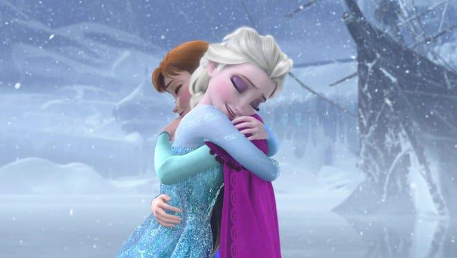 "Princesses Anna and Elsa of ""Frozen"" prove that true love can happen between siblings in ""Frozen."""