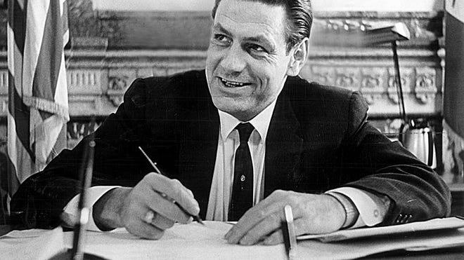 Former Iowa Gov. Harold Hughes.