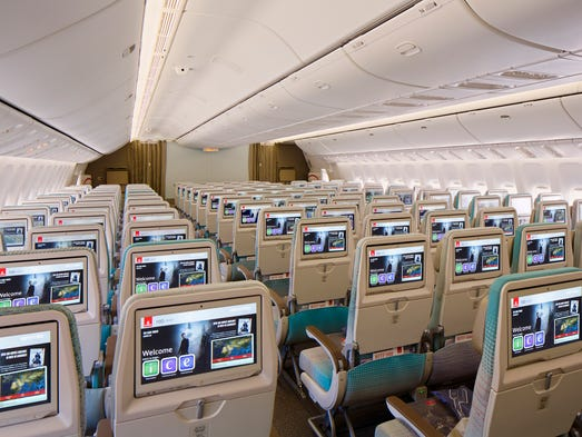 Emirates' economy class cabins on its Boeing 777 jets