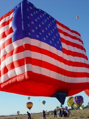 The El Paso Balloon Festival will have a patriotic theme, featuring a Soldier Salute, an American flag-shaped balloon and more.
