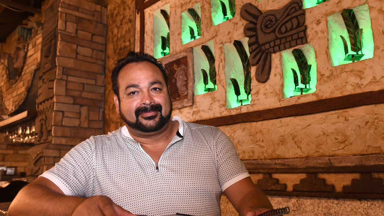 VIDEO - a quick tour of Livonia's Los Tres Amigos and its Aztec designs