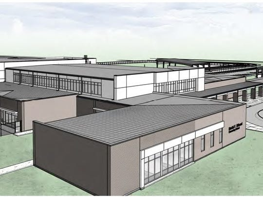 This rendering shows the plans for the new Billeaud Elementary in Broussard.