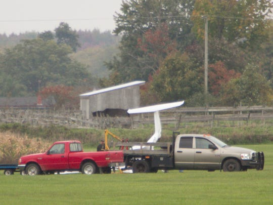 A plane either crashed or was getting maintenance just south of the runway at Maple Grove Airport Wednesday morning.