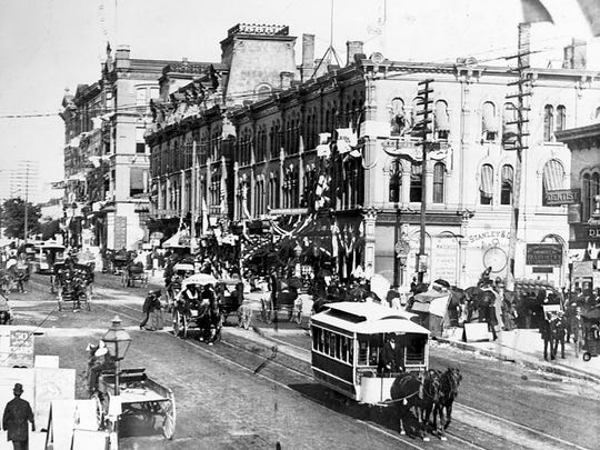 Milwaukee's first streetcars were pulled by mules and