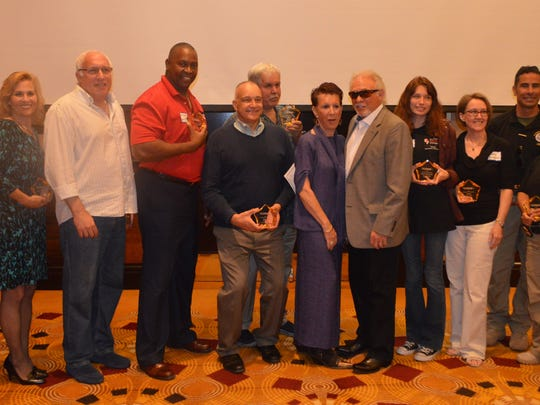 The recipients of this year's Champions of Excellence Awards.