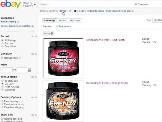 Images of Frenzy on US eBay site April 9 2014