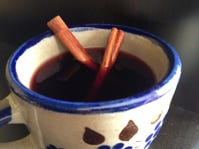 Beat the early winter chill with a warm cup of mulled wine.