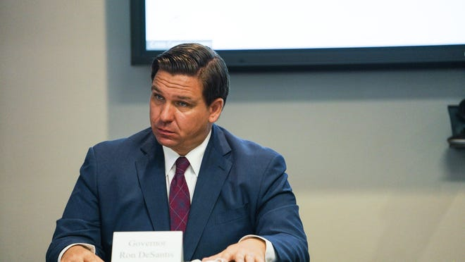Florida Gov. Ron DeSantis and First Lady Casey DeSantis hold a roundtable discussion regarding mental health and COVID-19 at the Tampa Bay Crisis Center on Thursday, July 16, 2020 in Tampa.