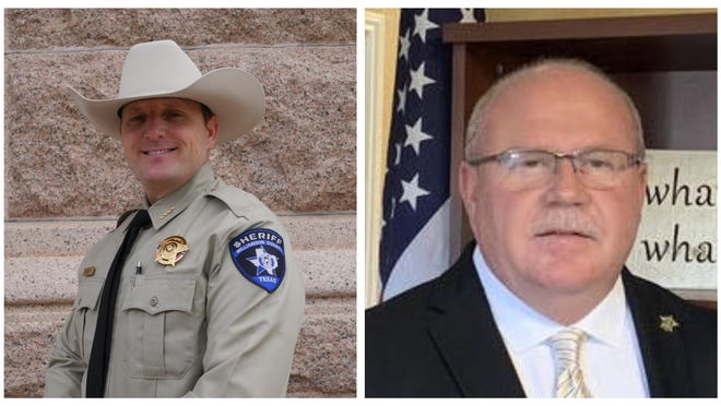 Williamson County Sheriff Robert Chody, left, lost to Democratic challenger Mike Gleason.