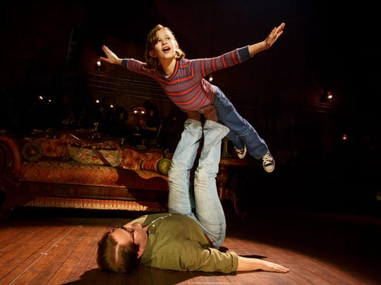 """Alessandra Baldacchino as """"Small Alison"""" and Robert Petkoff as """"Bruce"""" in """"Fun Home."""""""