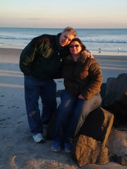 Phil Hebert and Veronica Robinette, who will wed during